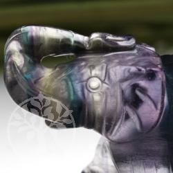 Regenbogenfluorit Elefant Rainbow 50mm Figur AA
