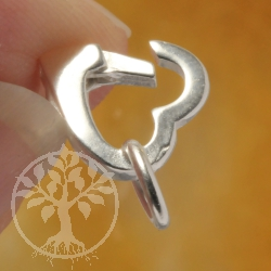 Heart Clasp Sterling Silver