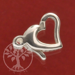 Small Heart Sterlingsilver Clasp easy to open 925 Silver