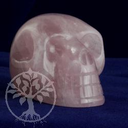 Rosenquarz Kristallschädel 60mm BIG in A-Qualität