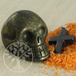 Pyrit Totenkopf Kristallschädel 30mm
