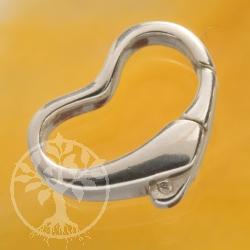 Herz Kettenverbinder Silver 925