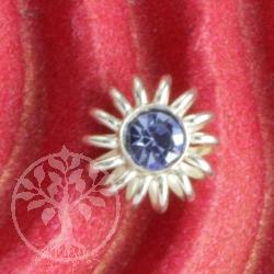Spiralblume blau Ohrstecker Sterlingsilber Ohrringe