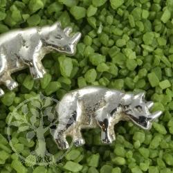 Nashorn Ohrstecker 925er Silber Tier Ohrring