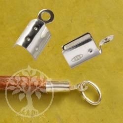 Lederband Endkappe 2 bis 3mm zum Crimpen Endstück 925 Silber