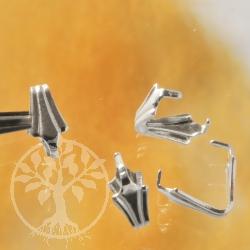Silberöse, Einhänger Lilie Fleur de Lis Silber 925 Öse für gebohrte Steine usw.