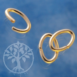 Oval Jump Ring Open 7.6x4.9x0.89mm Gold Filled 14K 1/20