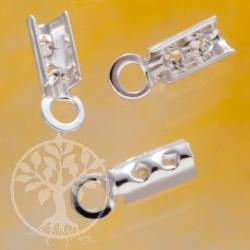 Lederband Endkappen 1mm bis 1,8mm Silber 925