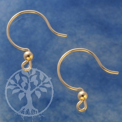 Gold Ohrhaken Bauchig 20x17mm Gold Filled 14K 1/20