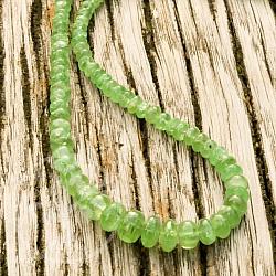 Tsavorit Halskette Button, knallgrüne Edelsteinkette