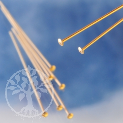 Head Pin with disc, goldfilled Headpins 38mm