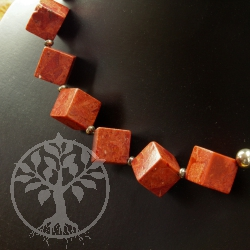 Coral Necklace Cube
