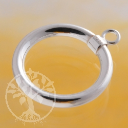 Toggle Ring 15x2mm Sterling Silver