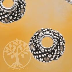 Perlenkappe 925er Silber mit  Markasit Steinen Beadcap