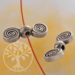 Silver Bead Double Disc Spiral