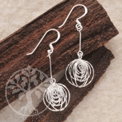 Silver earrings Wind Chime