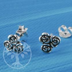 Three ear studs Rose Silver 925