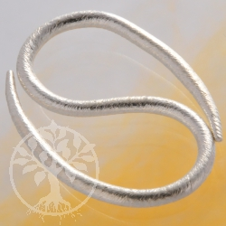 Design S-hook Clasp, Silver Brushed