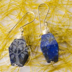 Lapis lazuli earrings unique