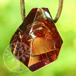 Garnet Pendant facetted