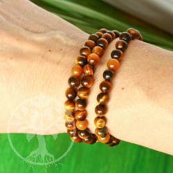 Tiger Eye Ball Bracelet 6mm AA-Quality
