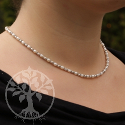 Pearl Necklace with Pearls and Silver