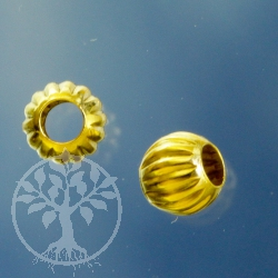 Goldperle Welle 3.0mm Gold Filled 14K 1/20Ham.