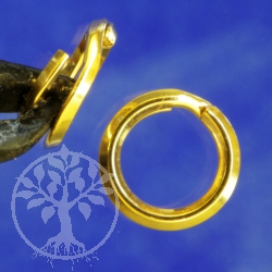 Gold Splitring 6 mm Goldfilled 1/20 14K