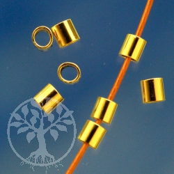 Gold Crimp Perlen Röhrchen 2x2mm Gold Filled 14K 1/20