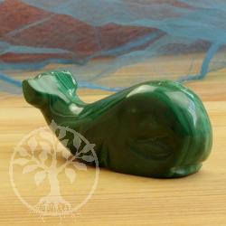 Malachit Edelsteinfigur Wal Ozean 002