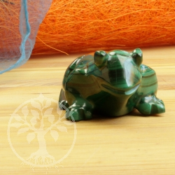 Unique Precious Stone Malachite Frog Figure