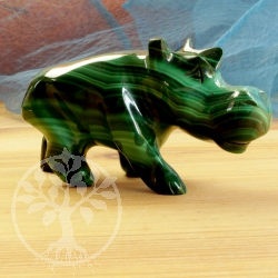 Malachit Hippopotamus figure gemstone