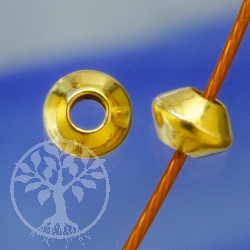 Goldperle Disc 3 mm Gold Filled Perle 14K 1/20Ham.