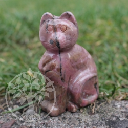 Rhodonite Cat