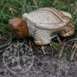Kurt Landschafts Jaspis Schildkröte Figur