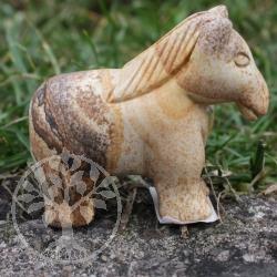 Frank die Pferd-Steinfigur aus Landschaftsjaspis