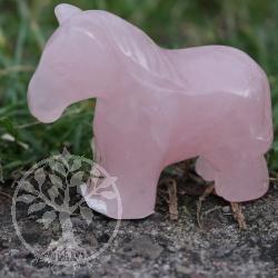 Pferd Peggy aus Rosenquarz als Figur