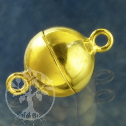 Magnetic Clasp Gold Silver 925 gold-plated Ball 12 mm