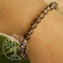 Smoky Quartz Gemstone Bracelet 6/7mm