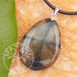 Chiastolite pendant with loop 925