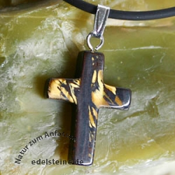 Tiger Iron Cross Pendant small