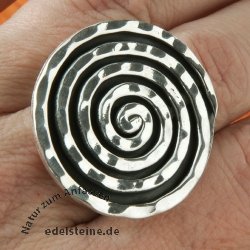 Silverring Black Spiral Sterlingsilver All Size