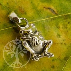 Silberanhänger Frosch lässig