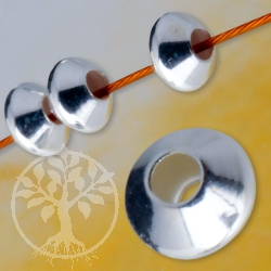 Between Pearl lens 4 mm silver bead Disc