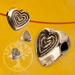 Herz Perle Silber 6 mm