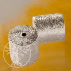 Zylinder große Silberperle gebürstet 11x9 mm