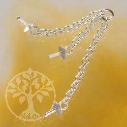 Chain Endpart For Ear Pendant 3 Silverchains