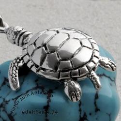 Schildkröte Anhänger beweglich ca. 30mm incl Öse