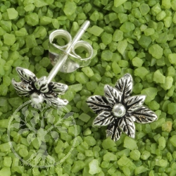 Ohrstecker Doppelblüte 925er Silber
