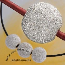 16mm Silberperle diamantiert Riesig gross 925er Silber